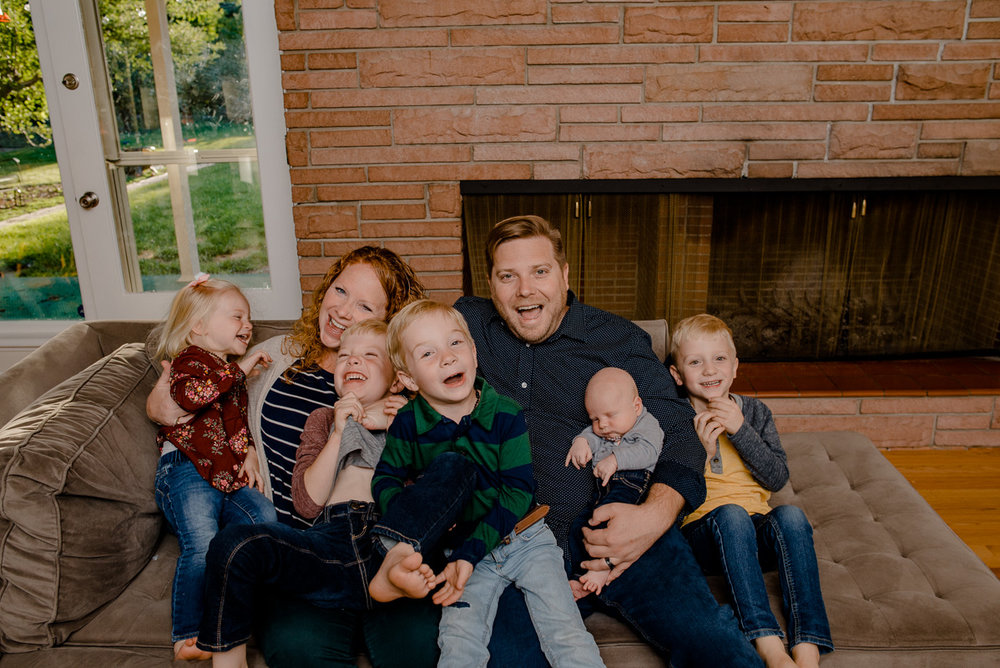 Denver Lifestyle In Home Family Photography {Schulz Family Newborn Family Lifestyle Denver Colorado Photographer}