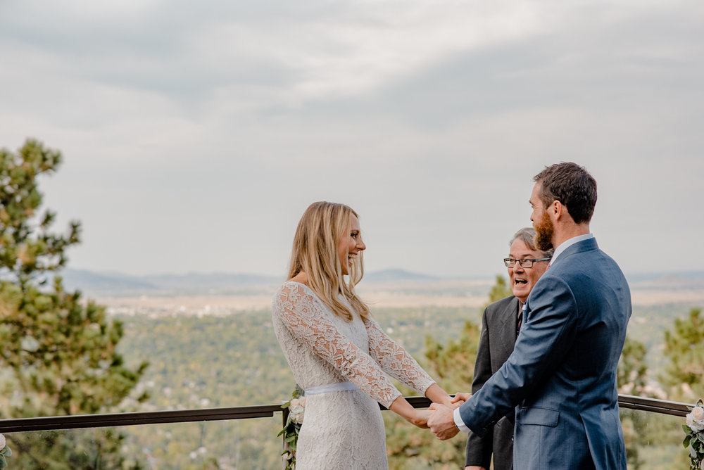 Boulder Colorado Mountain Intimate Wedding Elopement | Flagstaff House Wedding {Jessica & Adam} | Capital Hill Denver Colorado Mountain Elopement Photographer