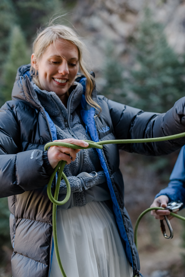 Rock Climbing Adventure Elopement {Lauren & Zak Adventurous Colorado Destination Elopement} | Clear Creek Canyon Capitalist Crag