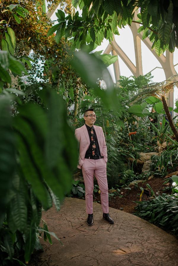 Alternative Denver Botanic Gardens Elopement {Gia & Dustin | Denver, Colorado Elopement Wedding Photographer} | Cheeseman Park Intimate Wedding Photos