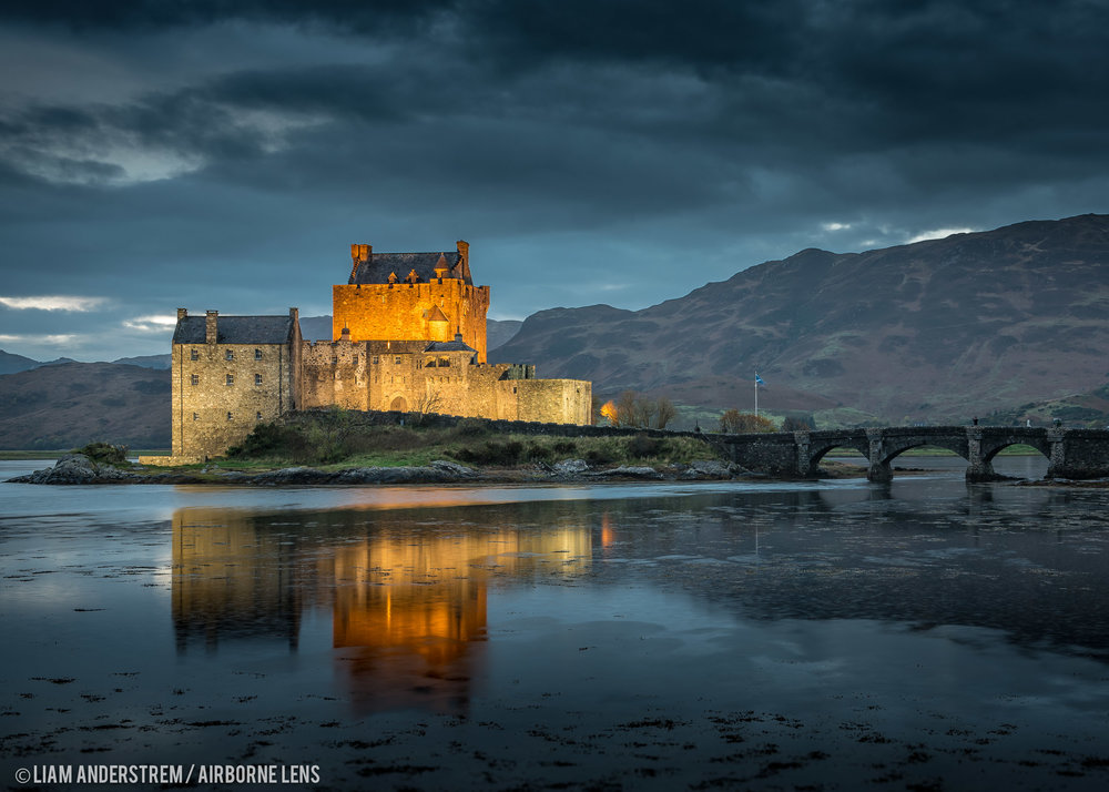 Eilean Donan Castle, Kyle of Lochalsh  Image Liam Anderstrem / Airborne Lens