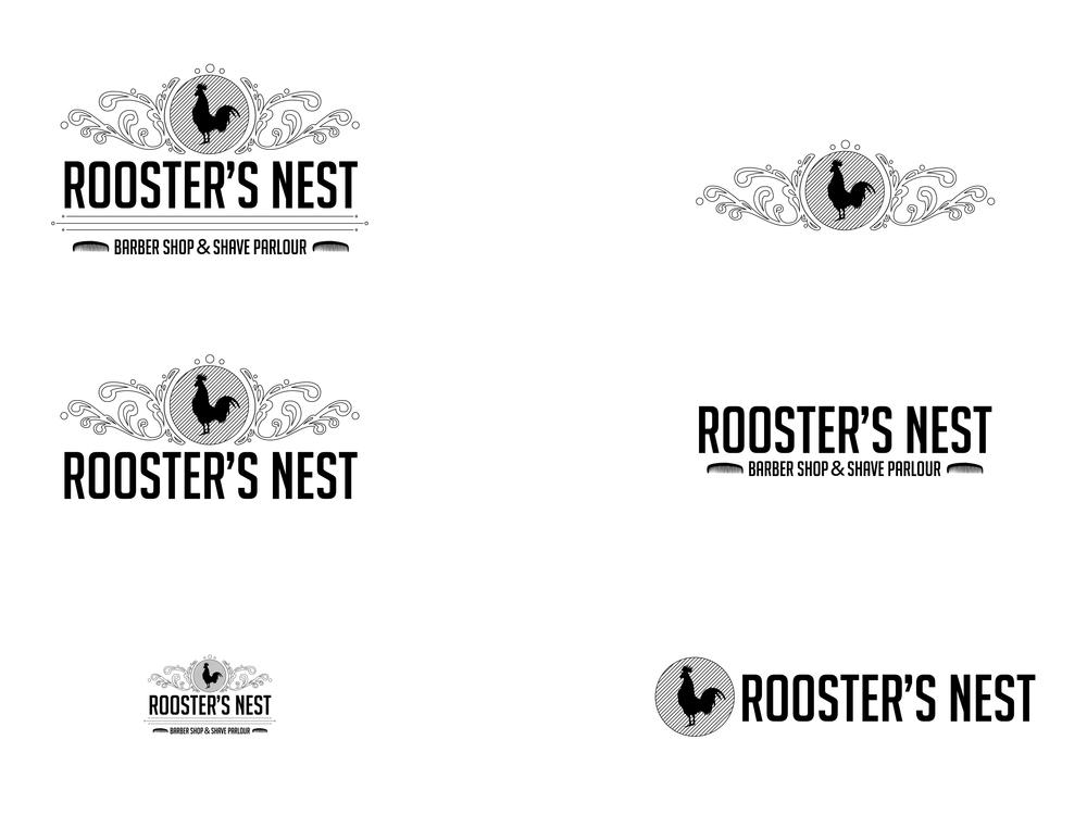 Rooster's Nest Logo Variations