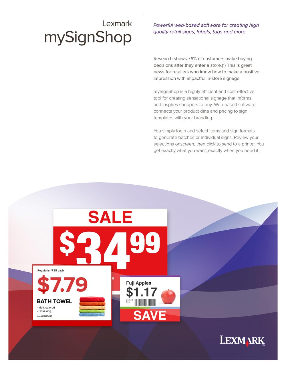 mySignShop Brochure Front