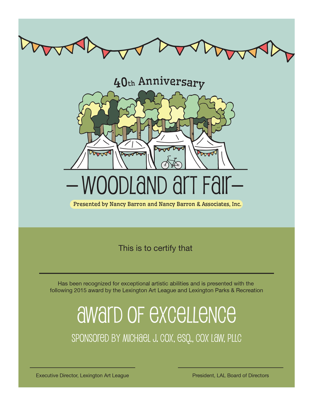 Woodland Award