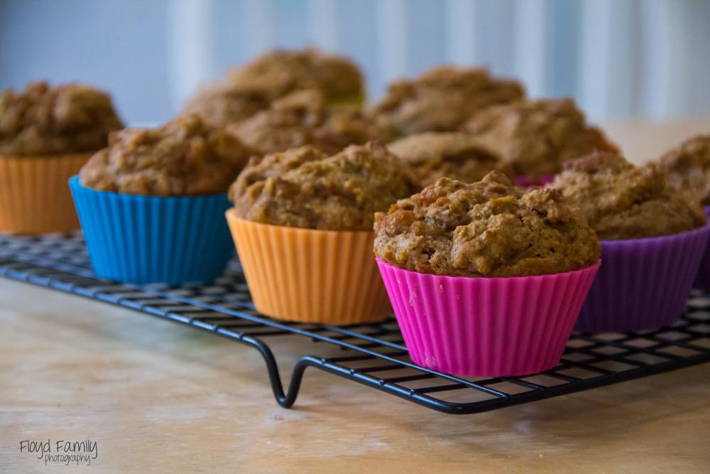 Yummy breakfast pumpkin muffins | Placerviile-Children-Photographer