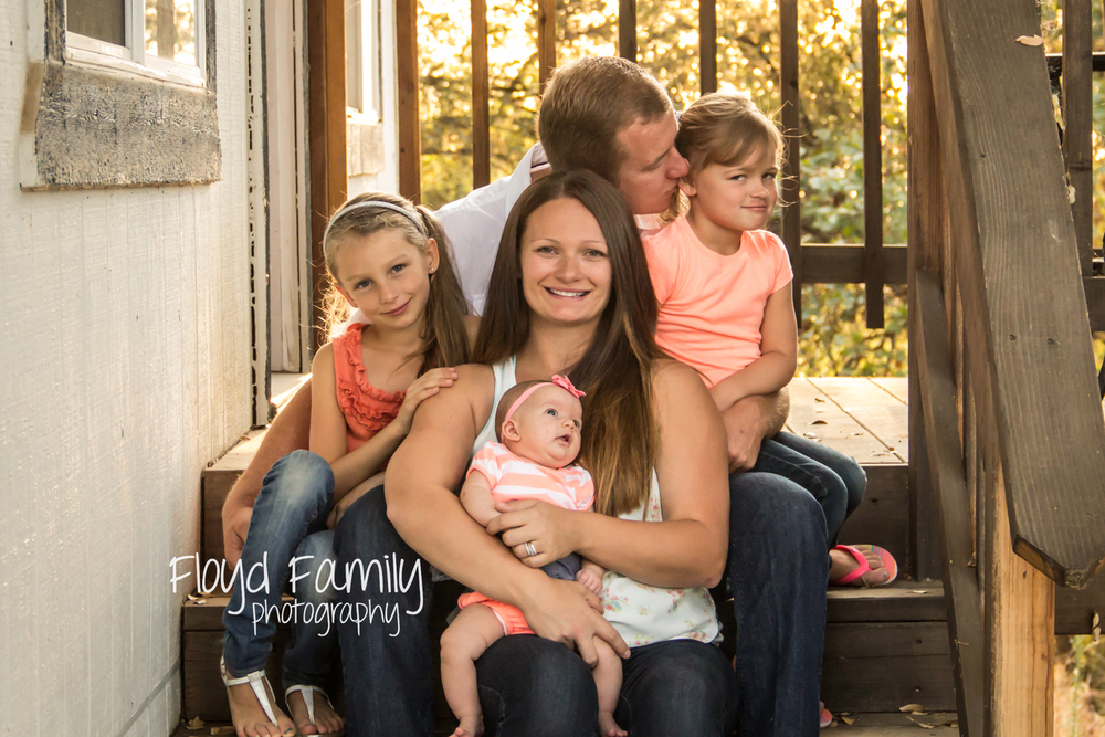 family photo on the stairs | Placerville-Children-Photographer