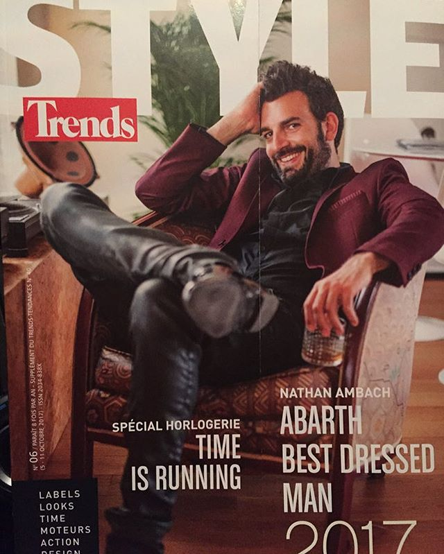 Cover photo in Trends magazine! Because of @n8nmusic good looks! #bestdressedman  Styling and suit by @rosannedeb . . . . . . . . . #whiteoutphotography #cover #portrait #magazine #fashion #suit #trends #colorphotography #photography #studio220 #lifestyle #professionalmodel #happy #work #style #leather #whiskey