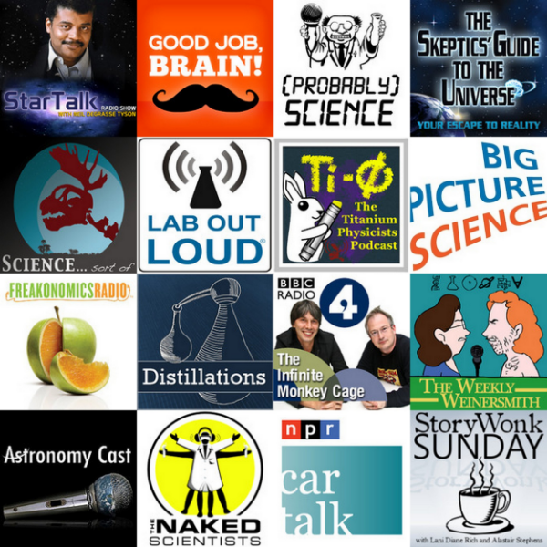 Additional Science-related podcasts I'll be checking out soon. Click on the image above!