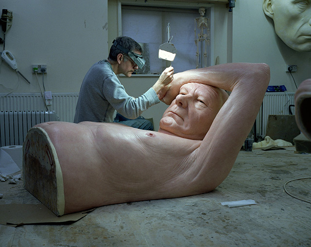 Ron Mueck's Studio, January 2013. Photo by Gautier Deblonde.