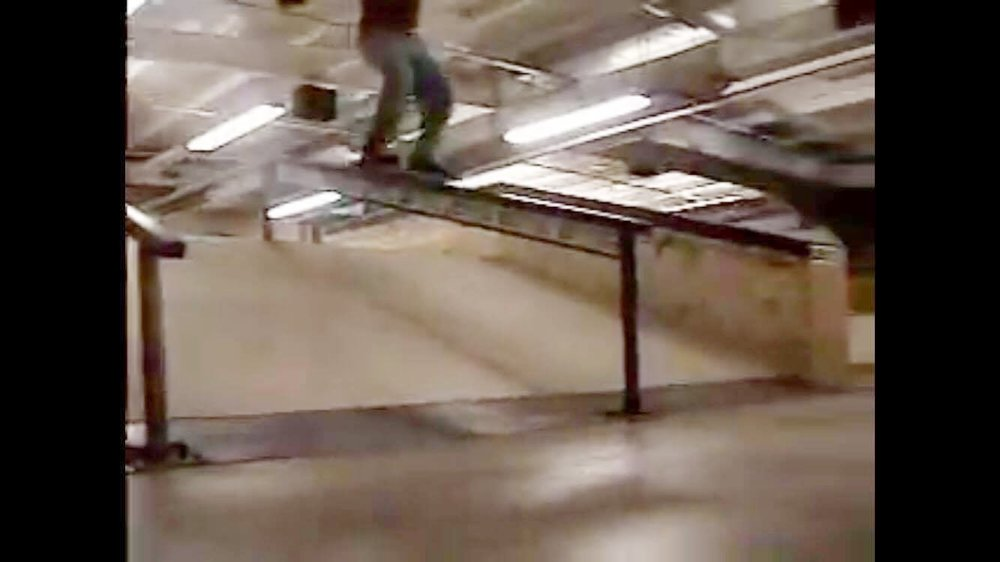 Appropriately blurry video screenshot of the Eisenbergs handrail