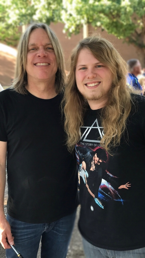Andy and Tanner at the 2017 Dallas Guitar Show
