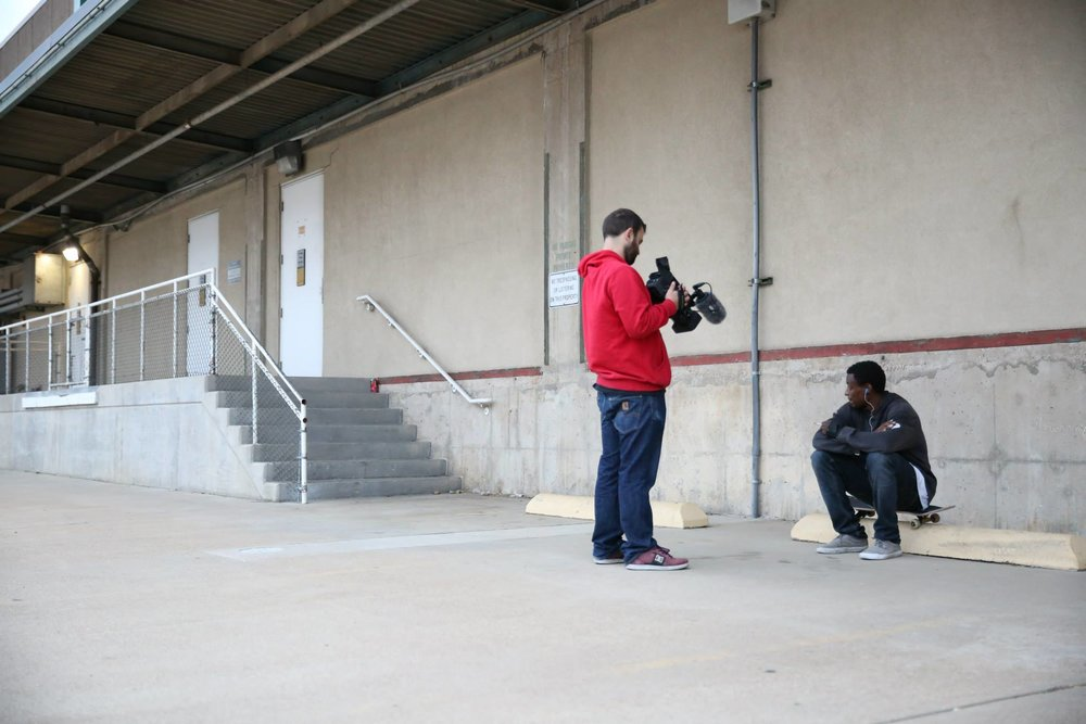 Jordan Stanley and Dallis Thompson filming Texalona 2.