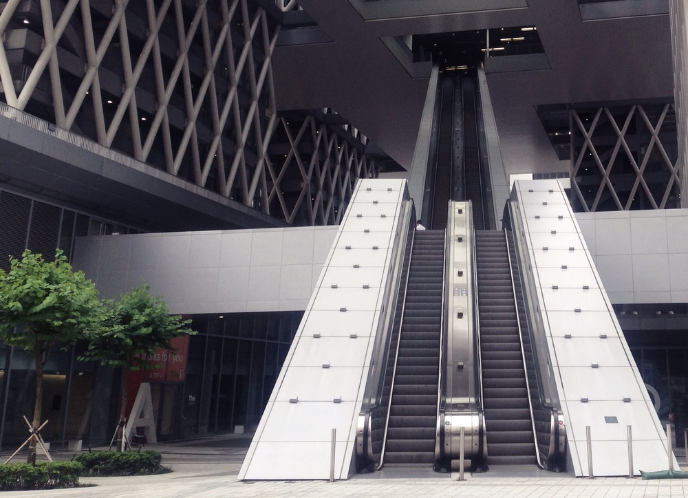 The intrance at HKDI has the longest escalator I've ever seen