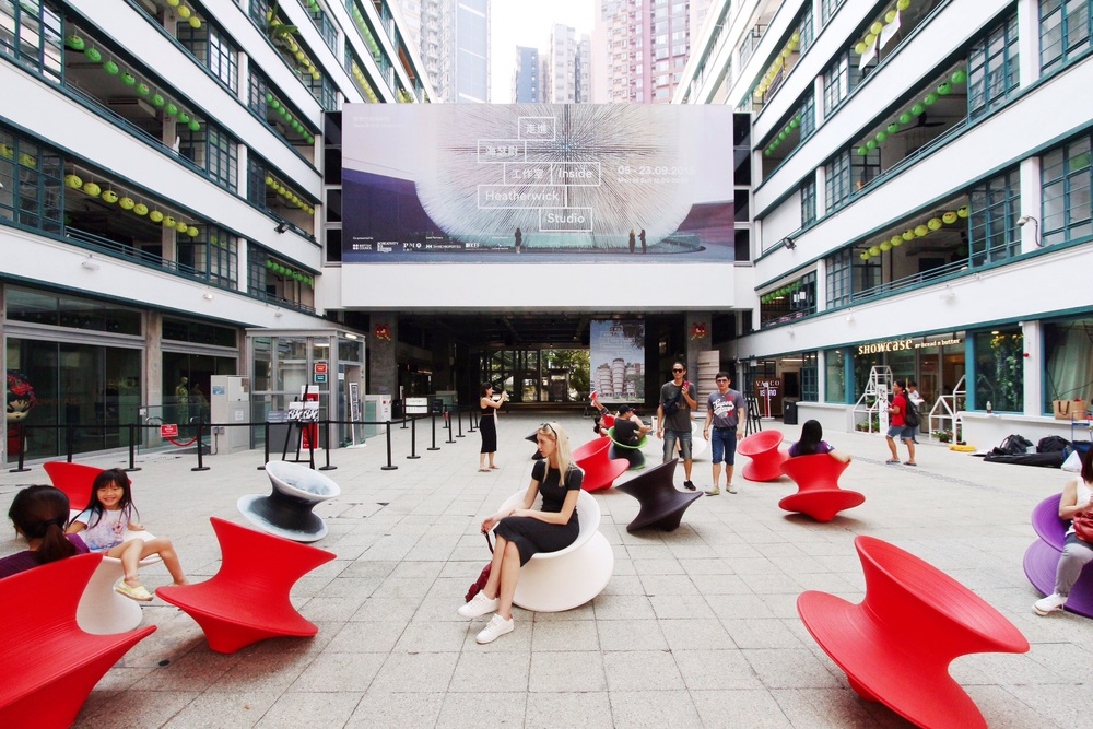 Heatherwick's playful Spun chairs at the Aberdeen Courtyard