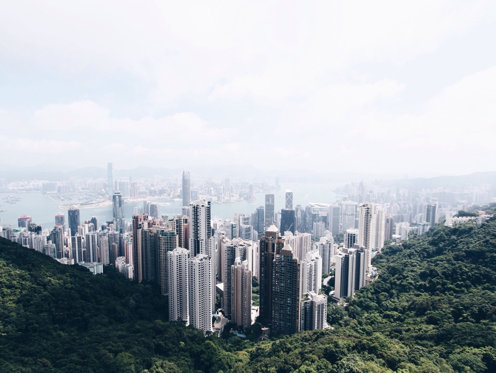 The amazing view from Victoria Peak last sunday