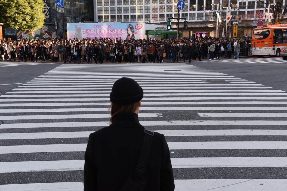 Shibuya street crossing