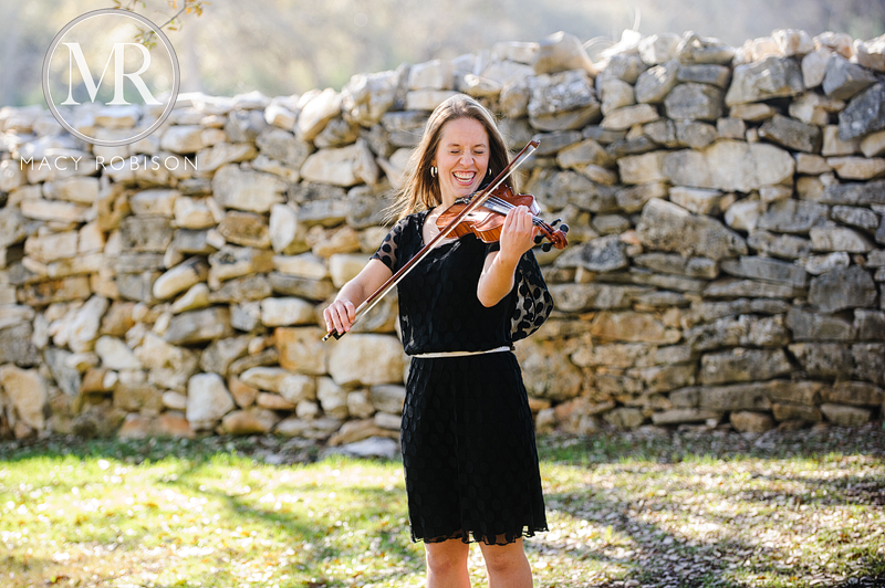 Austin High School Senior Photography violin orchestra