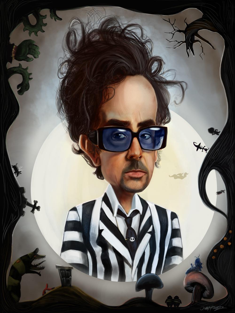 Tim Burton Caricature