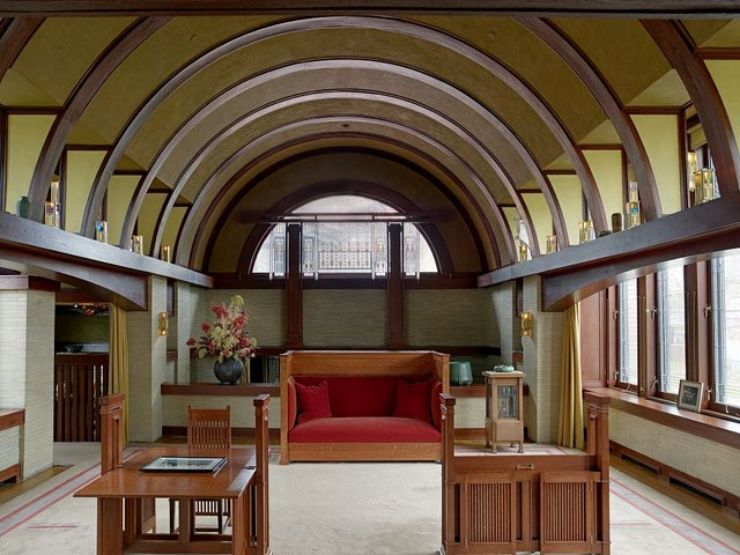 Dana House, 1902, Frank Lloyd Wright