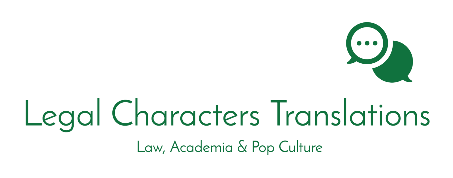 About Legal Characters Translations