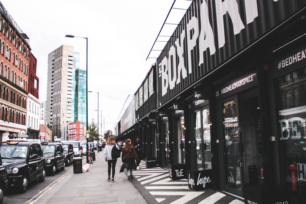 BOXPARK , kleine en coole pop-ups in Shoreditch.