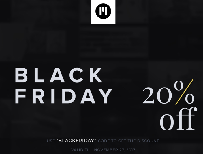 Use code: BLACKFRIDAY for 20% off!