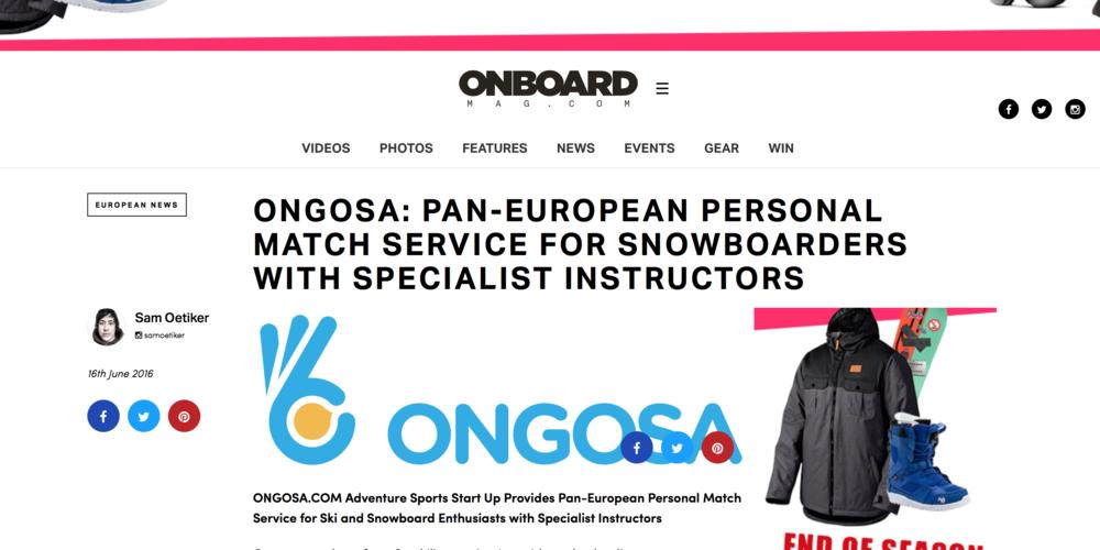 Onboard European Snowboard Mag