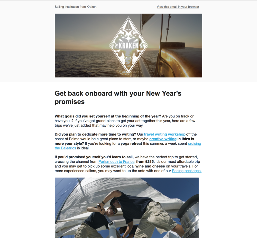 Sailing and achieving your goals March 2017