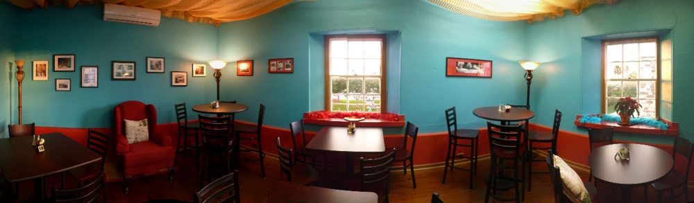 Our up-stairs Bistro Style Dining Room