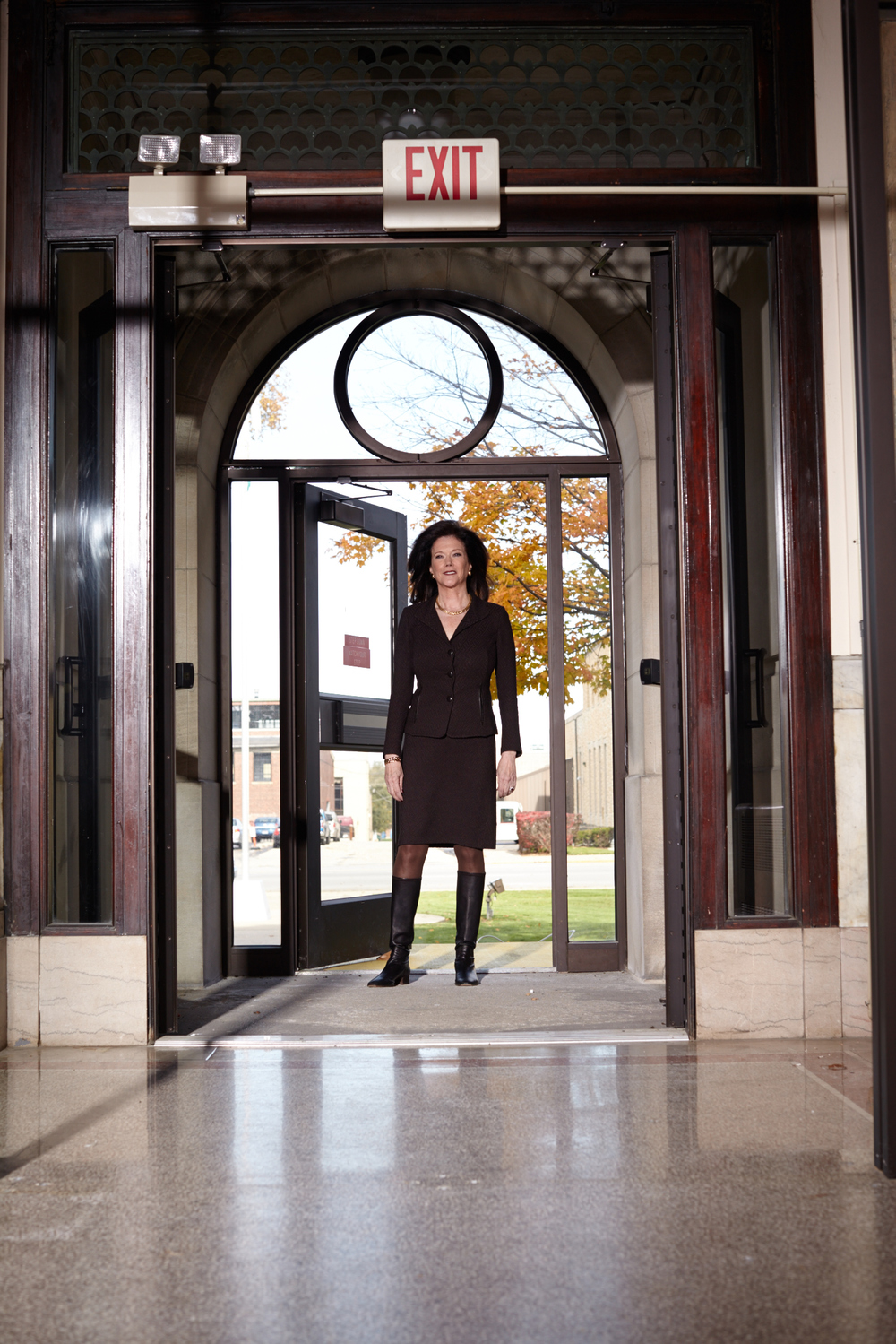 Zellner, inside the Kankakee County Courthouse. Photo by Lisa Predko.