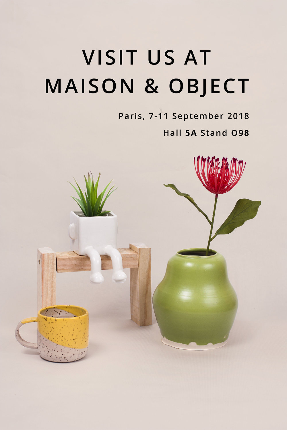 - We and our ceramics will be at Maison & Objet Paris.Visit us!  7 - 11 September 2018Hall 5A Stand O98