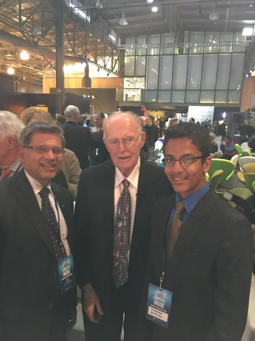 Shubham Banerjee with Gordon Moore - May 11, 2015