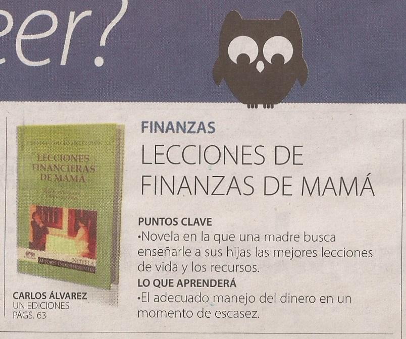 —La República, ¿Qué leer?, edición de enero 27 de 2016.