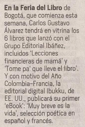 —El Tiempo, Teléfono Rosa, 23 de abril de 2017.