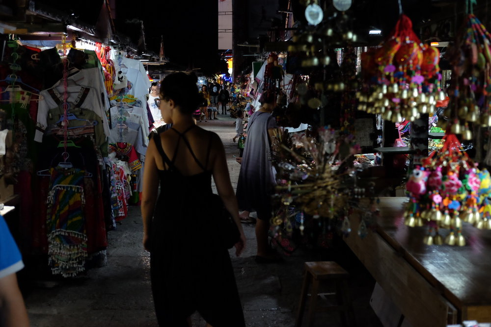 Walking along the night market in Guilin. Photo: Alexander Sobolla