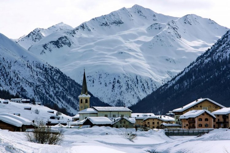 Livigno is a quaint rustic village in the Valtellina alpine valley near the Swiss border