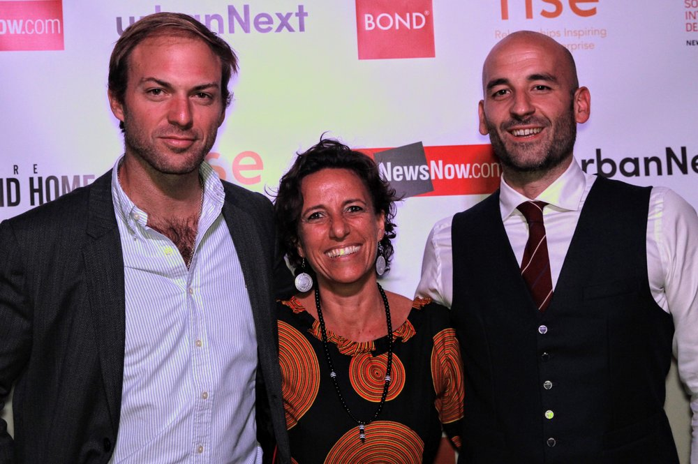 Daniela with rise in the city organisers, Pedro Clarke and Luca Astorri