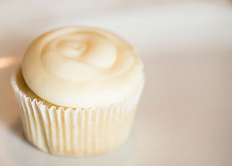 Very Vanilla Gluten Free cupcake with Amaretto buttercream