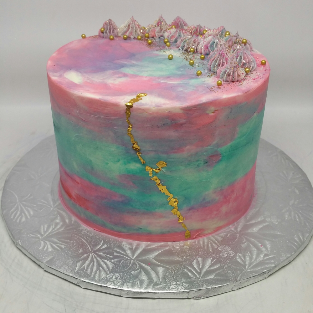Water Color Buttercream cake