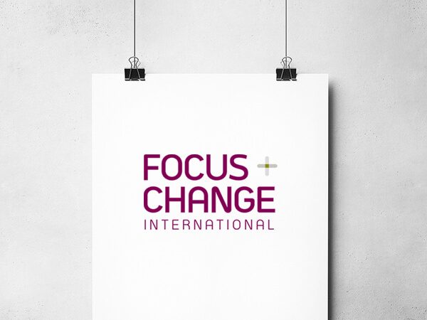 A better quality of life    Life coaching start-up Focus + Change International was eager to be up and running with an effective visual identity – one that did not travel the conventional path of many other brands in the competitive life coaching field. They wanted to stand out. Focus + Change connected with us to help them through their first stages of branding and marketing. We developed and designed the company logo, initial print collateral and workshop presentation products.