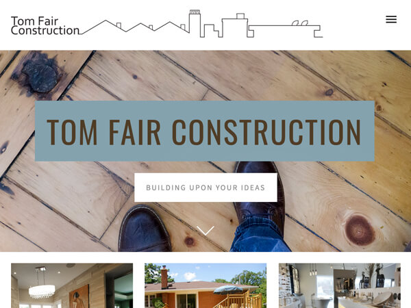 Bringing renovation ideas to life    Tom Fair Construction's attention to collaboration, managing expectations and quality work are what peaked our interest from the start. The 3-generation, family-owned business enjoyed a solid reputation through word-of-mouth, but their existing website was letting them down. We helped them tell their story with clearer, more focused content and a simpler layout so their projects could sing!   tomfairconstruction.ca
