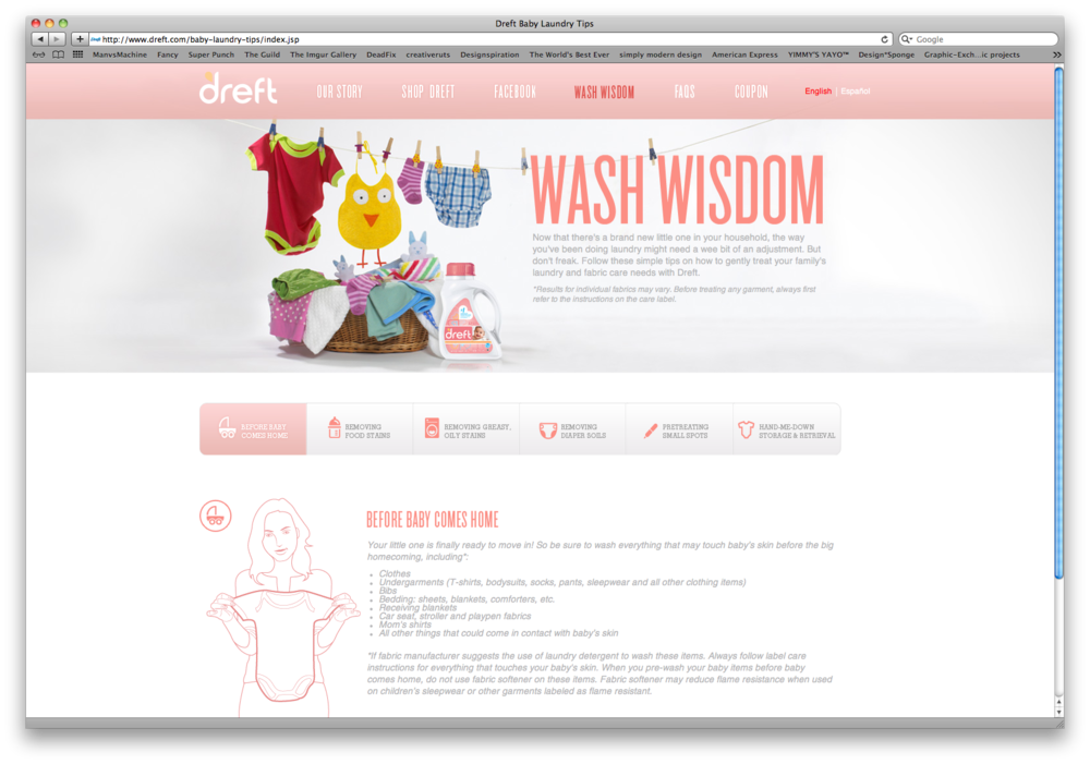 Modern baby website