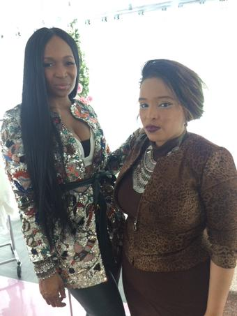 MArlo Hampton and Celebrity Wardrobe Stylist Pilar Scratch
