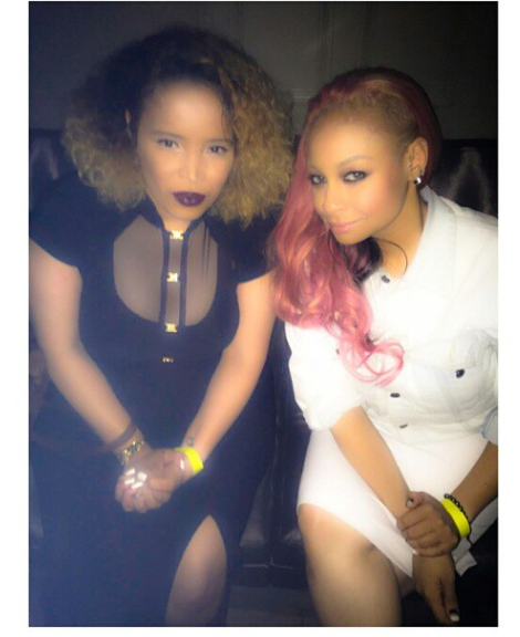 Celebrity Wardrobe Stylist Pilar Scratch and Rayven Symone in VIP for PRess at Yancey Edwards birthday celebration