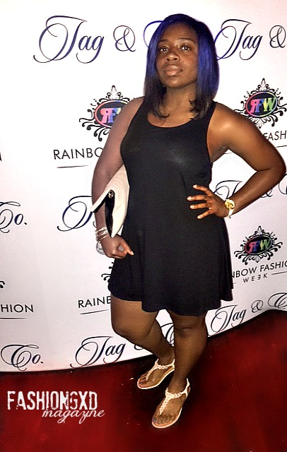 Celebrity Hairstylist of Fashion Gxd Magazine Shantise Michelle attends Rainbow Fashion week / Filming for vh1 Mob Wives