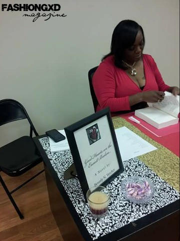 Author Beverley Vercher at her Book Signing ( Image Courtesy of Ms. Vercher )