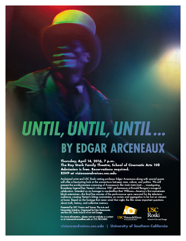 Until, Until, Until... by Edgar Arceneaux screening at USC