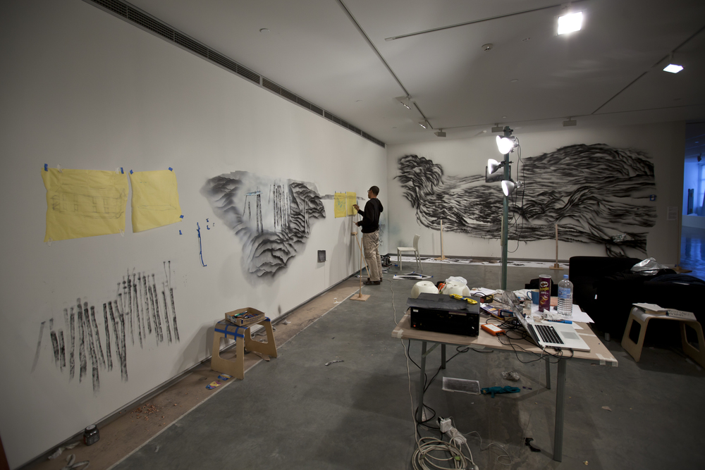 Edgar Arceneaux at work on_Drawings of Removal4.jpg