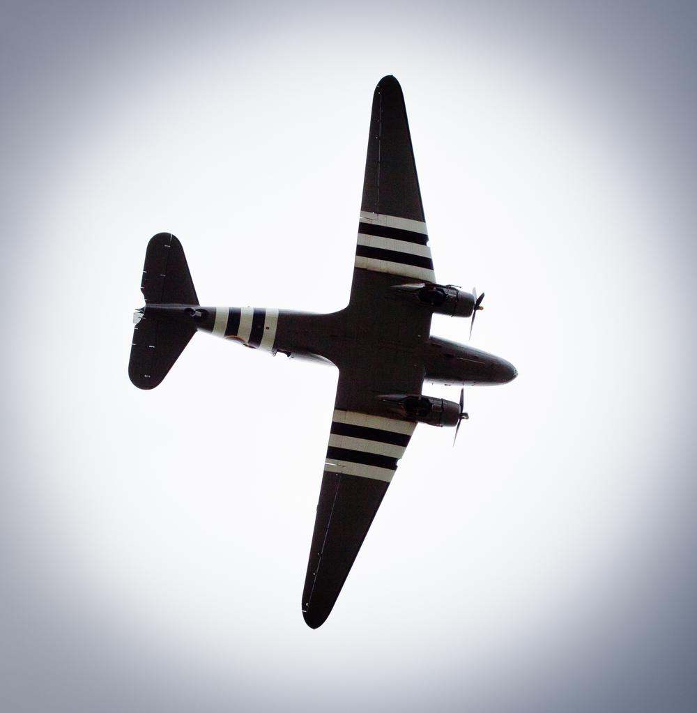 The Dakota during it's flypast over Haworth