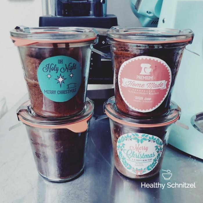 Dinkelschokokuchen Im Glas Gebacken Healthy Schnitzel